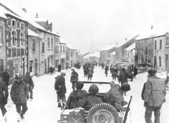 The 347th Infantry Regiment entering St. Hubert on January 13th