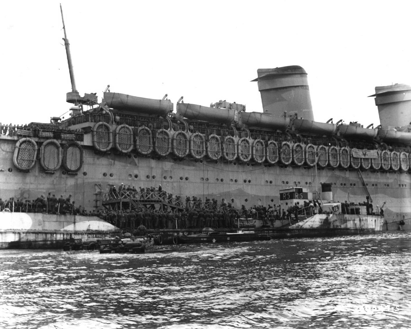 Boarding the USS West Point