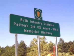 Highway I-390 Near Rochester, NY Dedicated to 87th Infantry Division
