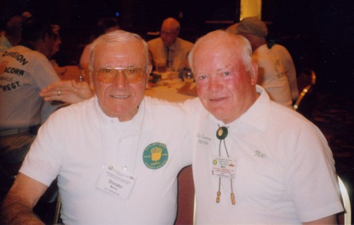 Donato Marini and John McAuliffe at the 2003 reunion of the 87th Infantry Division Association, in Charlotte, NC.