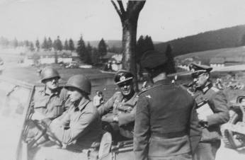 The Mass Surrender of German Troops to the 347th Infantry Regiment on May 6, 1945